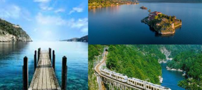 """Lago Maggiore, Lago d'Orta, Lago di Como  e il """"Treno Centovalli"""""""